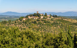 Landscape of Chianti region in Tuscan Italy Stock Image