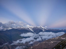 Landscape of China Yunnan Meili Snow Mountain Royalty Free Stock Photos