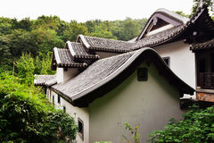 Landscape of Chinese ancient garden. Chinese ancient garden . Asia rockery garden landscape with Chinese traditional design Stock Photos