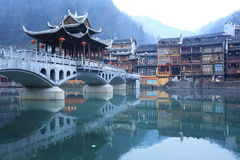 Landscape of Chinese historic town Stock Photos