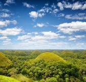 Chocolate hills on Bohol Island, Philippines.  Royalty Free Stock Photo