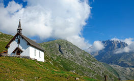 Landscape with church in the alps Royalty Free Stock Photo