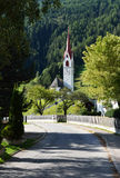Landscape with church in Lutago,South Tyrol Alps,Italy Stock Image