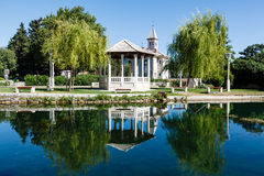 Landscape, Church and Pavilion Stock Photography