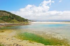 Landscape of Cies Islands in Atlantic, Spain Stock Images