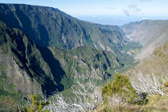 Landscape of Cirque of Cilaos on La Reunion Island Stock Images