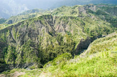 Landscape of Cirque of Cilaos on La Reunion Island Royalty Free Stock Photography