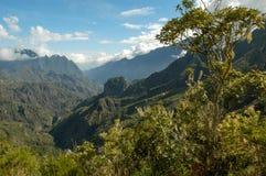 Landscape of Cirque of Cilaos on La Reunion Island Stock Images