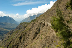 Landscape of Cirque of Cilaos on La Reunion Island Royalty Free Stock Photo