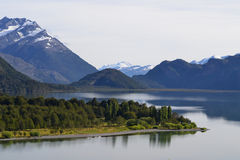 Landscape of Cisnes Lake, Chilean Patagonia Stock Photography