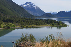 Landscape of Cisnes Lake, Chilean Patagonia Royalty Free Stock Photography