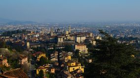 Landscape of Citta Alta in Bergamo Stock Images