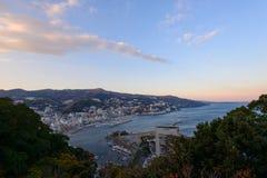 Landscape of the city of Atami, in Shizuoka, Japan Royalty Free Stock Photos