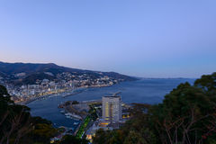 Landscape of the city of Atami, in Shizuoka, Japan Stock Photography