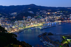 Landscape of the city of Atami, in Shizuoka, Japan Stock Photos