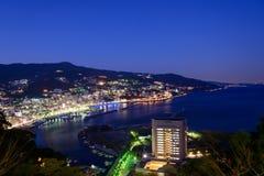 Landscape of the city of Atami, in Shizuoka, Japan Royalty Free Stock Image