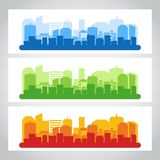 Landscape City Banner Color Royalty Free Stock Photography