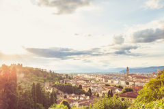 Landscape of the city of Florence Stock Photo