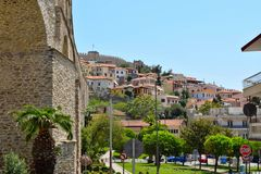 Cityscape Kavala, Greece. royalty free stock images