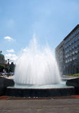 Landscape of city fountain in Belgrade Downtown, Serbia Stock Photography