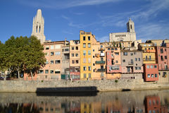Landscape of the city of Girona, Spain Stock Image
