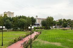 Landscape of the city of Grozny Royalty Free Stock Photography
