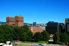 Landscape on City Hall (Radhuset) form fortress in Oslo, Norway Stock Photography