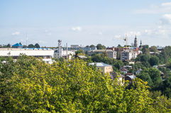 The landscape of the city of Kaluga in Russia. Royalty Free Stock Image