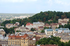 Landscape of the city of Lviv Stock Photography