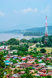 Landscape city and mekong Stock Photo