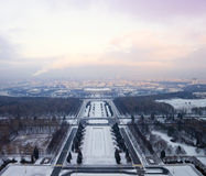 Landscape of city Moscow from a height Royalty Free Stock Photography