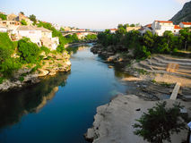 Landscape of the city of Mostar, Bosnia and Herzegovina. Royalty Free Stock Images
