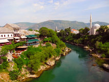 Landscape of the city of Mostar, Bosnia and Herzegovina. Royalty Free Stock Photo