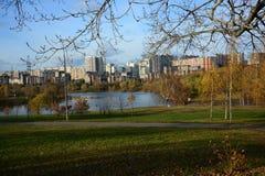 Landscape city park. stock images
