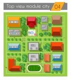Landscape  city top view Stock Image