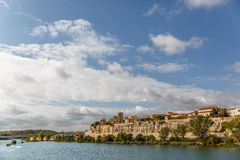 Landscape with the city of Zamora in the background, and view of Royalty Free Stock Images