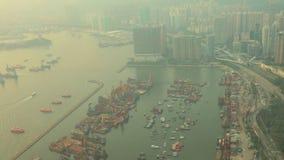 Kowloon West, Hong Kong,cityscape at Hong Kong stock footage