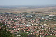 Landscape. And cityscape of Vrsac in Serbia Stock Photography