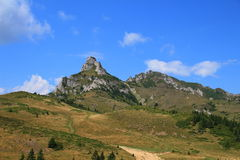 Landscape - Ciucas peak 2. Ciucas mountains are part of the Romanian Carpathian mountain range rising up to a height of 1, 954 m Stock Image