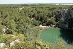 Landscape of the Clape,Languedoc Stock Photography