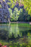 Landscape of the clear mirror lake Royalty Free Stock Photography