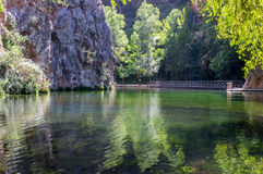 Landscape of the clear mirror lake Stock Photography