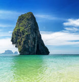 Phra Nang beach, Thailand. Royalty Free Stock Images