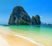 Phra Nang beach, Thailand. Royalty Free Stock Photos