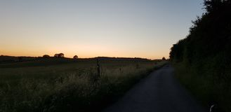 Landscape. Clearsky luxembourg nature path night evenig Stock Photos