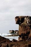 The landscape of cliff seashore. The landscape of cliff seashore of Lanzarote island Stock Images