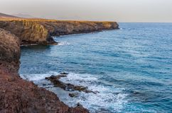 Landscape of cliffs and ocean royalty free stock images