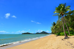 Landscape of Clifton beach near Cairns Queensland Australia Royalty Free Stock Photos