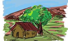 Landscape clip-art Stock Image