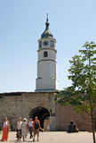 Landscape of Clock Tower at Belgrade Fortress Kalemegdan Royalty Free Stock Image